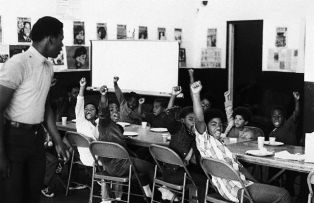 Black Power Salute at Liberation School