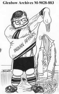 Cartoon of Harold Cardinal.