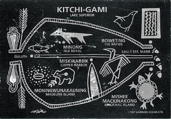 Ojibwe pictograph of Gichi Gami-2